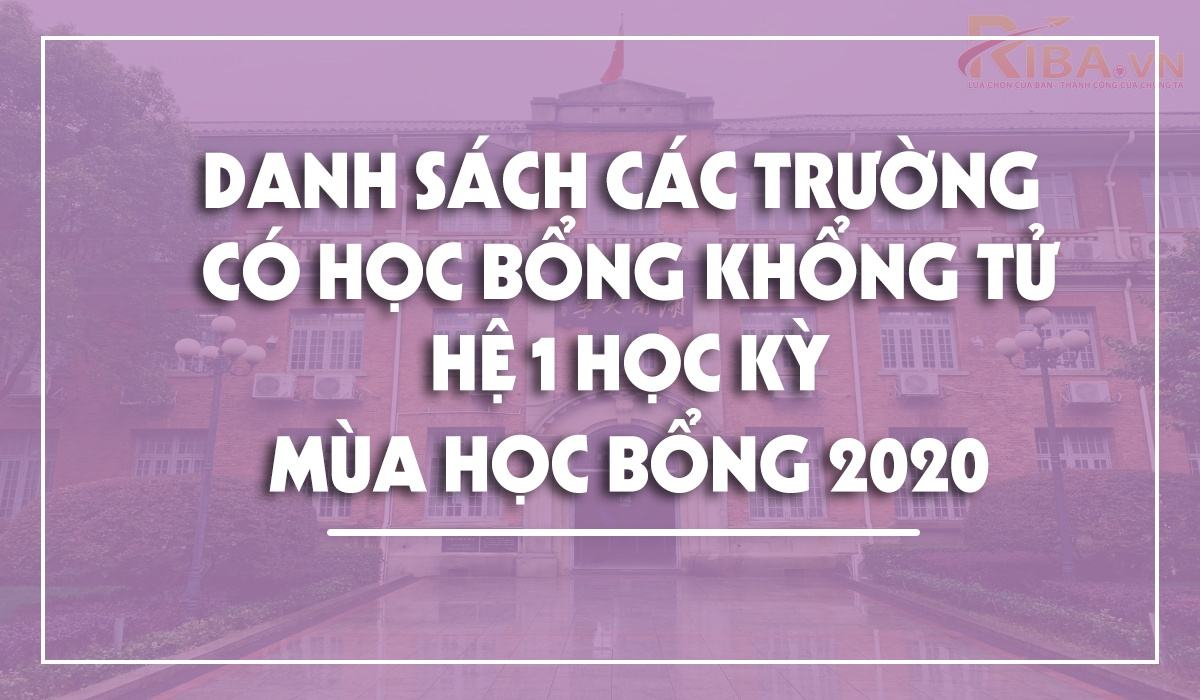 Danh Sach Cac Truong Co Hoc Bong Khong Tu He 1 Hoc Ky 1 2021